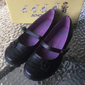 black school uniform shoes size 3 girls